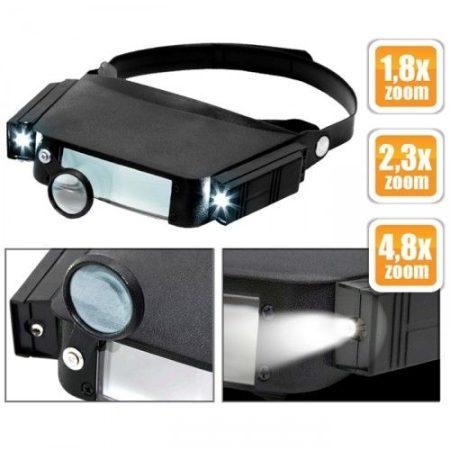 Handy Fejpántos nagyító szemüveg LED világítással