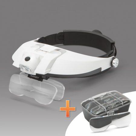 Handy fejpántos nagyító szemüveg LED világítással + 2 db ajándék elem