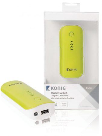 König 4400 mAh univerzális külső akkumulátor, hordozható USB töltő