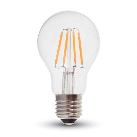 V-TAC filament 8W E27 LED izzó - meleg fehér - 4407