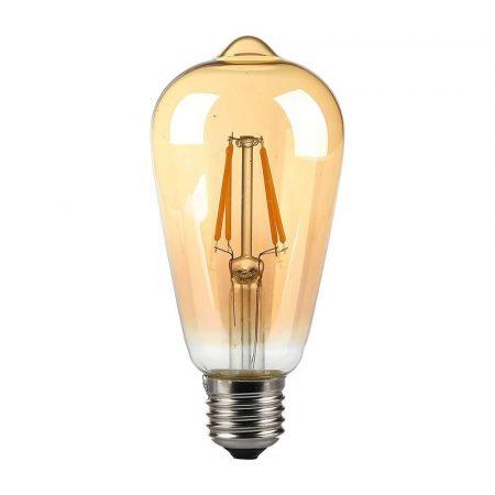 V-TAC retro Edison LED izzó 6W E27 - borostyánsárga búrával - 4362