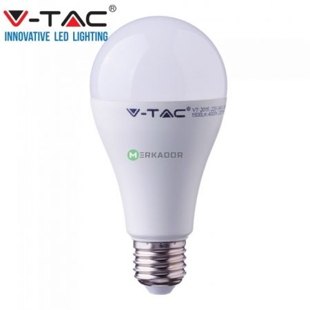 V-TAC 15W E27 A65 LED izzó - Hideg fehér - 4455