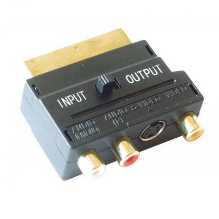 RCA - SCART aranyozott átalakító adapter