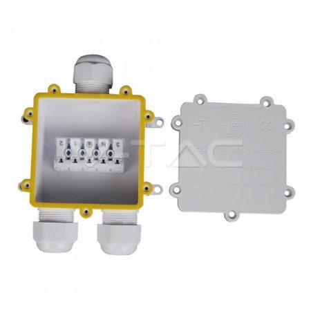 V-TAC IP68 kültéri vízálló 3-as kötődoboz, fehér - 5981
