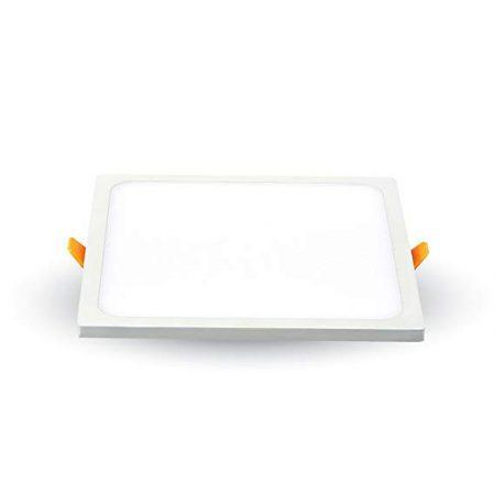 V-TAC süllyeszthető, négyzet LED panel extra vékony kerettel 15W - 4000K - 4947