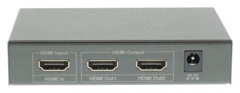 König HDMI jel elosztó két képernyőre beépített erősítővel - KNVSP3402
