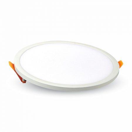 V-TAC süllyeszthető, kerek LED panel extra vékony kerettel 8W - 6400K - 4933