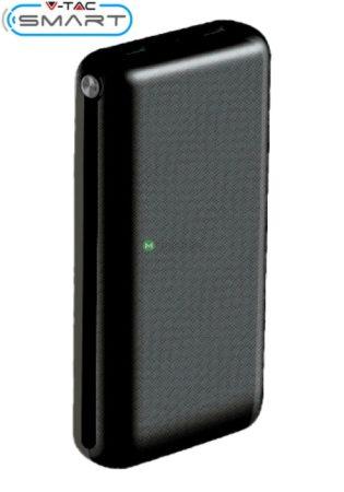V-TAC Smart 30.000 mAh powerbank gyorstöltés funkcióval, fekete - 8901