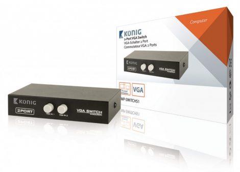 Monitor VGA kapcsoló 2+1 elosztó
