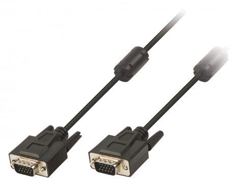 VGA apa - VGA apa hosszabbító kábel zavarszűrővel 2m - fekete