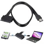 eSATA - SATA 22 pin átalakító adapter kábel