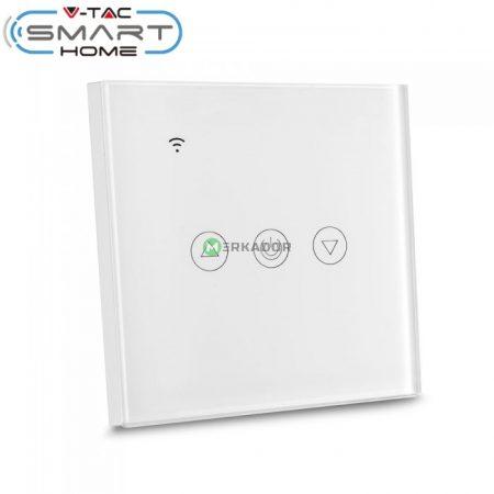 V-TAC Smart Home WiFi fali kapcsoló fényerőszabályzóval, fehér - 8433