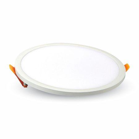 V-TAC süllyeszthető, kerek LED panel extra vékony kerettel 22W - 3000K - 4937
