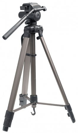 Alu tripod, fényképezőgép és kamera állvány 161 cm