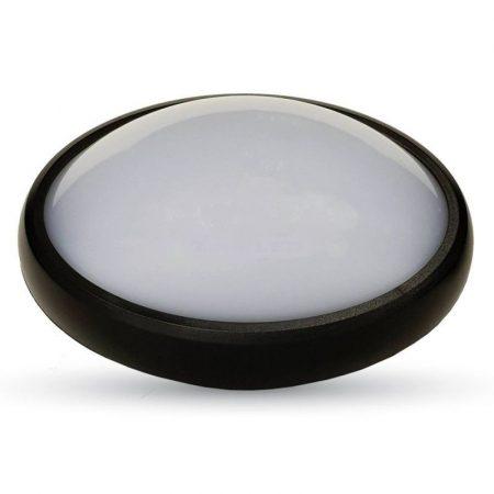 V-TAC fali / mennyezeti 12W ovális lámpa, IP54 - 4500K - fekete - 4973