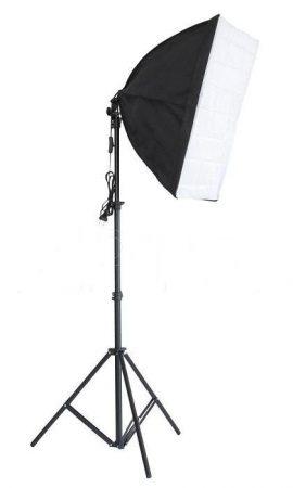Fotó stúdió lámpa állvány, 40x60 cm softbox