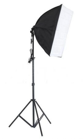 Fotó stúdió lámpa állvány, 40x60 cm softbox szett