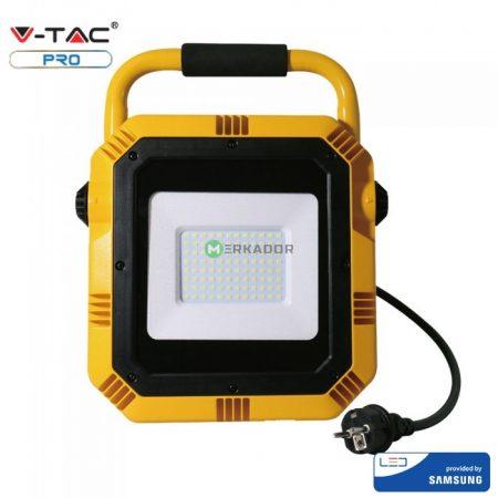 V-TAC PRO hordozható 50W reflektor, Samsung chipes - Hideg fehér - 946