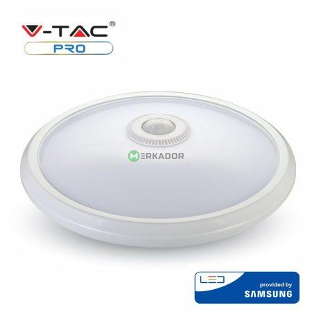 V-TAC mozgásérzékelős mennyezeti LED lámpa 12W - Samsung chip, 3000K - 807