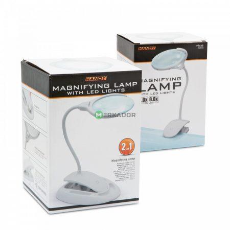 Nagyítós asztali lámpa LED világítással érintőkapcsolóval