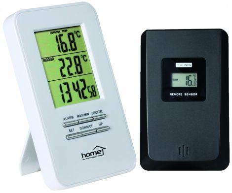 Vezeték nélküli külső-belső hőmérő + ébresztőóra