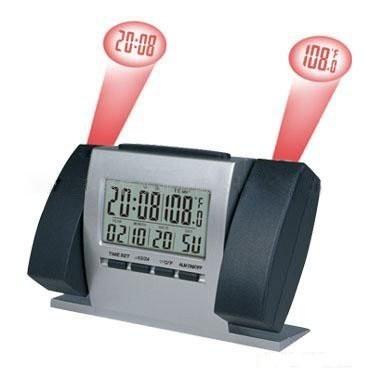 Dupla kivetítős, projektoros óra ébresztővel + hőmérővel