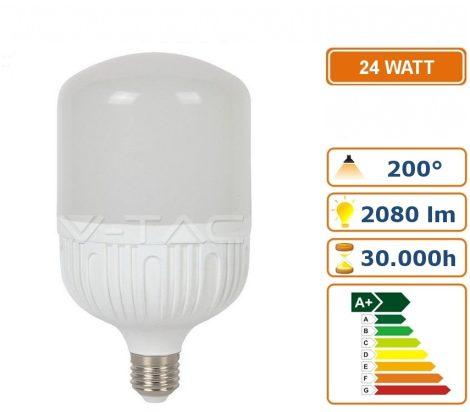 V-TAC 24W E27 T100 meleg fehér LED lámpa izzó - 7275
