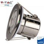 V-TAC PRO tűzálló, beépíthető 5W LED matt króm spot lámpa - 8174