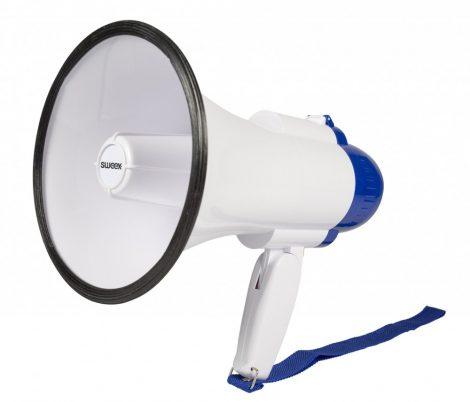 Hordozható, megafon hangosbeszélő rögzítő funkcióval 10W - 250m