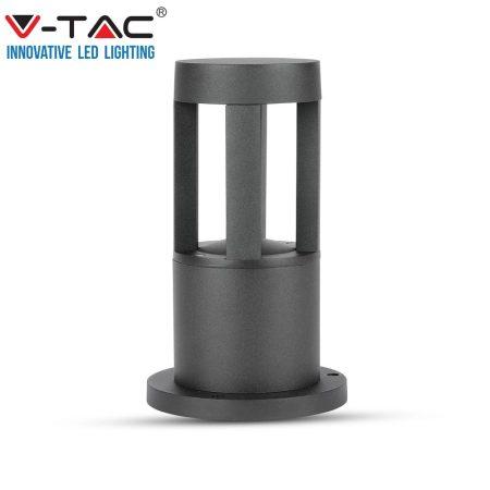 V-TAC kültéri fekete LED állólámpa, 6400K, 25cm - 8324