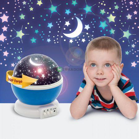 Csillagos égbolt kivetítő LED projektor - kék