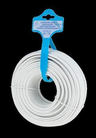 Hangszóró, hangfal kábel 2 x 1.5mm 25m - fehér
