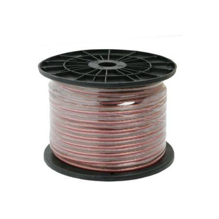 Hangszóró, hangfal kábel - oxigénmentes réz - 2 x 2mm - 100m