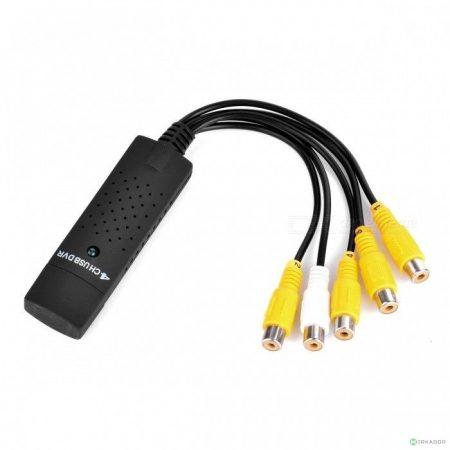Digitális videó felvevő - rögzítő, 4 csatornás USB DVR