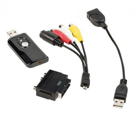USB digitális felvevő, videó digitalizáló Win7 / Win8 / Win10