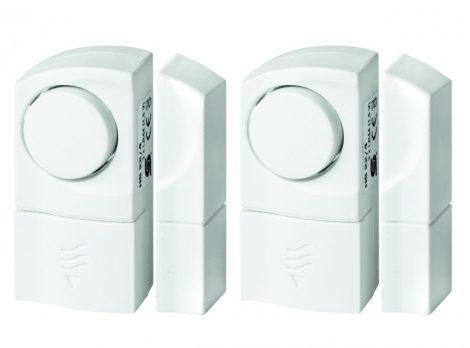 2 db mozgásérzékelős belépésjelző, mágneses ajtó/ablak riasztó szett