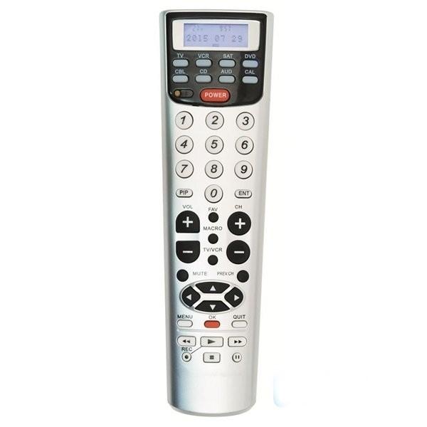 3231d2c228bb Univerzális TV / DVD / HIFI távirányító LCD kijelzővel 7in1 ...