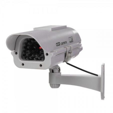 Napelemes szürke kamu kamera, kültéri álkamera