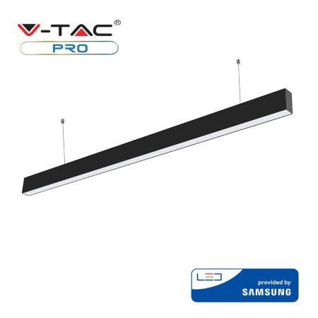 V-TAC vonalvilágító mennyezeti LED lámpa Samsung chippel - 4000K - fekete - 374