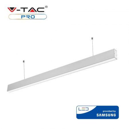 V-TAC vonalvilágító mennyezeti LED lámpa Samsung chippel - 4000K - ezüstszürke - 375