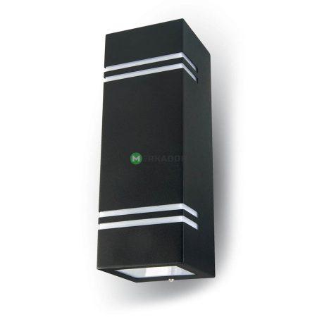 V-TAC fekete kétirányú szögletes fali lámpa GU10 foglalattal - 7512