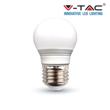 V-TAC LED lámpa izzó 3W E27 - természetes fehér - 7203