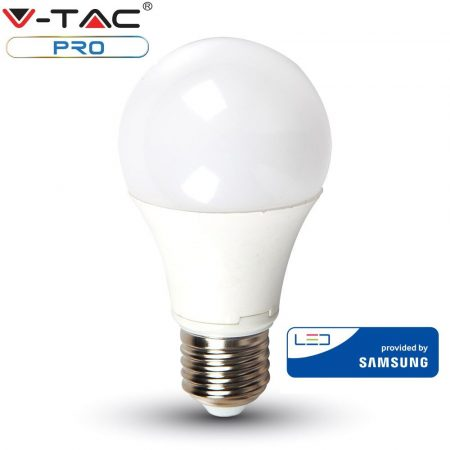 V-TAC PRO 9W E27 meleg fehér LED lámpa izzó - SAMSUNG chip - 228