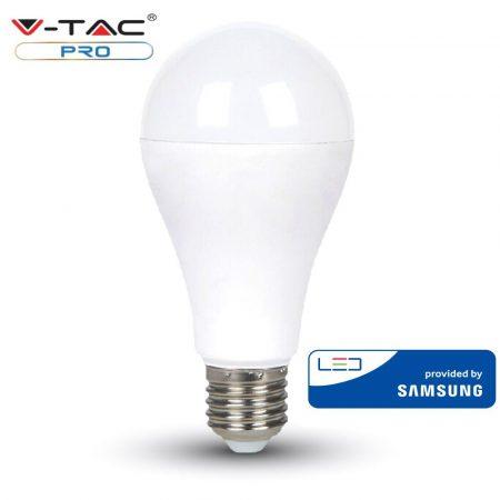 V-TAC PRO 15W E27 természetes fehér LED lámpa izzó - SAMSUNG chip - 160