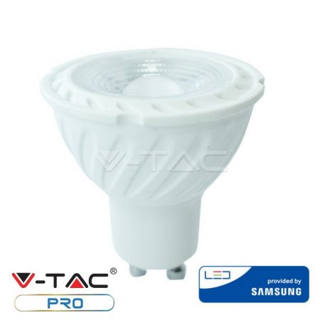 V-TAC dimmelhető spot LED lámpa izzó, 6.5W GU10 6400K - Samsung chip - 200
