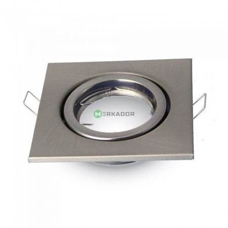 Billenthető beépíthető matt króm spot lámpa keret, négyzet lámpatest - MK-3473