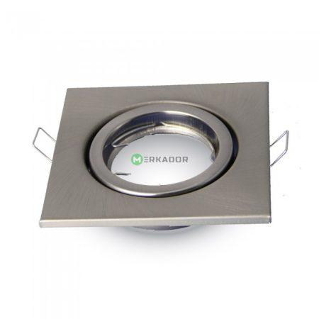 V-TAC billenthető beépíthető matt króm spot lámpa keret, lámpatest - 3473