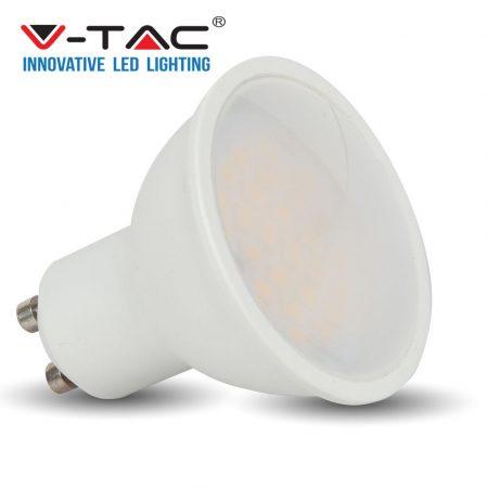 V-TAC spot lámpa LED izzó, 6W GU10 - meleg fehér - 7303