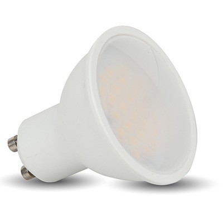 V-TAC LED SPOT lámpa, 5W ledes GU10 izzó, égő - Hideg fehér - 1687