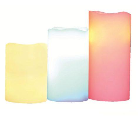 Távírányítós színváltós RGB LED gyertya szett